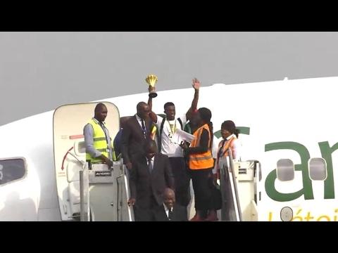 Vidéo - Retour triomphal au Cameroun pour les Lions indomptables, vainqueurs de la CAN 2017