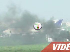 Vidéo - Incendie à l'Aéroport Léopold Sédar Senghor