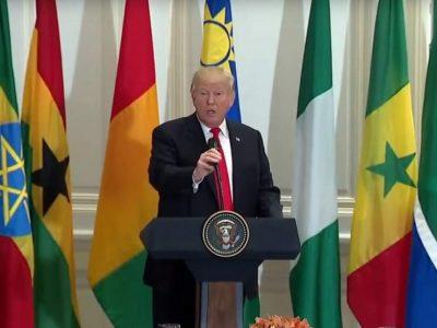 Durant un déjeuner, Donald Trump a inventé le nom d'un pays africain