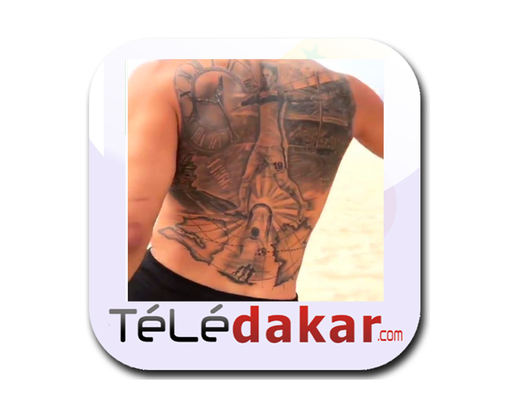 photos - le footballeur leroy sane se fait tatouer le sénégal sur