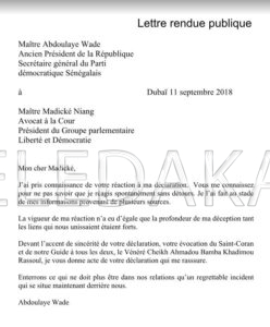 Urgent – Document – Me Abdoulaye Wade et Madické Niang se réconcilient  %Post Title