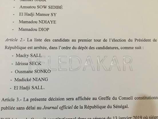 Présidentielle 2019 : Abdoul Mbaye tacle sévèrement le président du Conseil constitutionnel  %Post Title