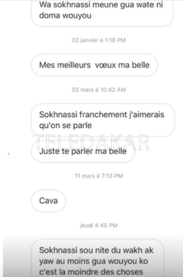 Harcèlement : Léa Ndiaye publie les messages des « prétendants »