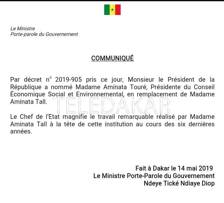 L'ex premier ministre devient la présidente du CESE  %Post Title