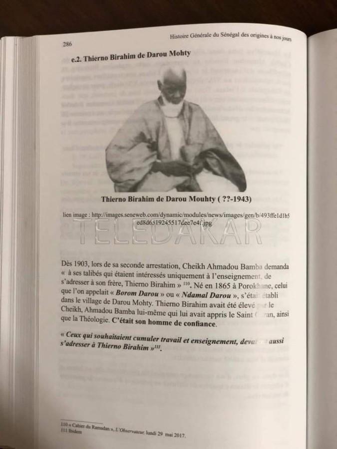 Dans l'histoire générale du Sénégal le petit frère Mame Cheikh Anta est plus âgé que son grand frère Mame Thierno.  %Post Title