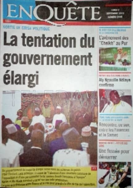 Revue de presse & la Une des journaux  %Post Title