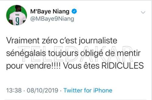 """Mbaye Niang : """" Les journalistes Sénégalais sont des menteurs...""""  %Post Title"""