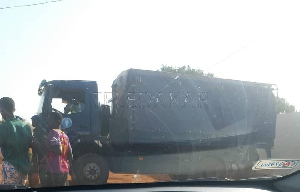 Gamou 2019 : Un camion rempli de gendarmes devant la résidence de Sokhna Aïda Diallo