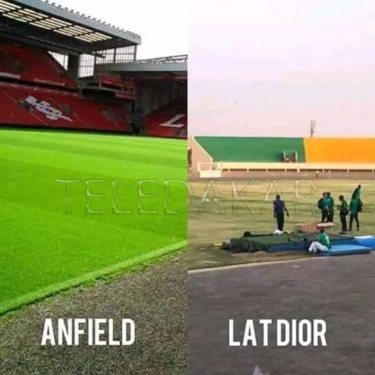 La pelouse  Anfield vs Lat Dior : Comment vous voulez que Sadio Mané comme à Liverpool