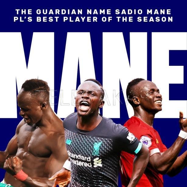 Premier League : Sadio Mané élu meilleur joueur de la saison par The Guardian