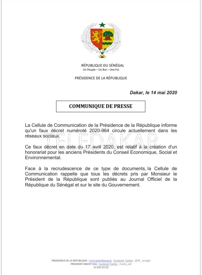"""Polémique autour d'un """"faux décret"""" qui circule"""