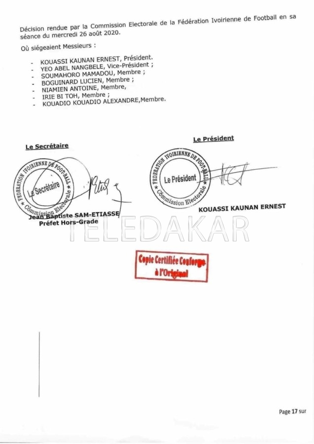 Election présidence de la FIF : La candidature de Didier Drogba rejetée