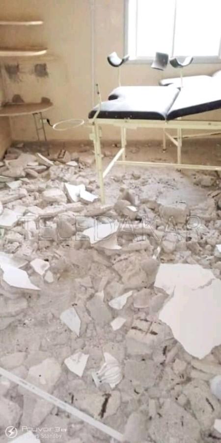 Photos- La dalle de la salle d'accouchement de la maternité de Dalifort Forail s'effondre