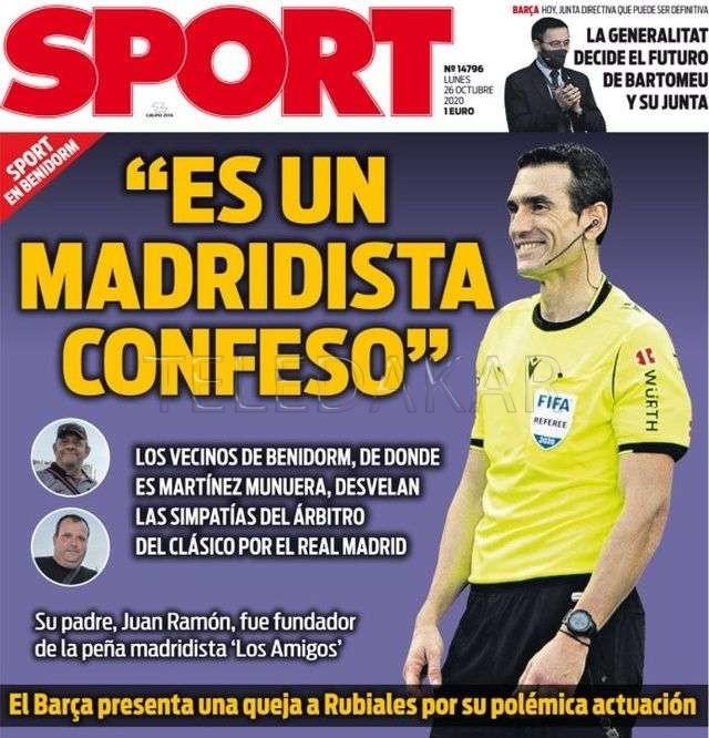 "Barça-Real - L'arbitre du Clasico, Juan Martinez Munuera, est un ""Madridista assumé"""